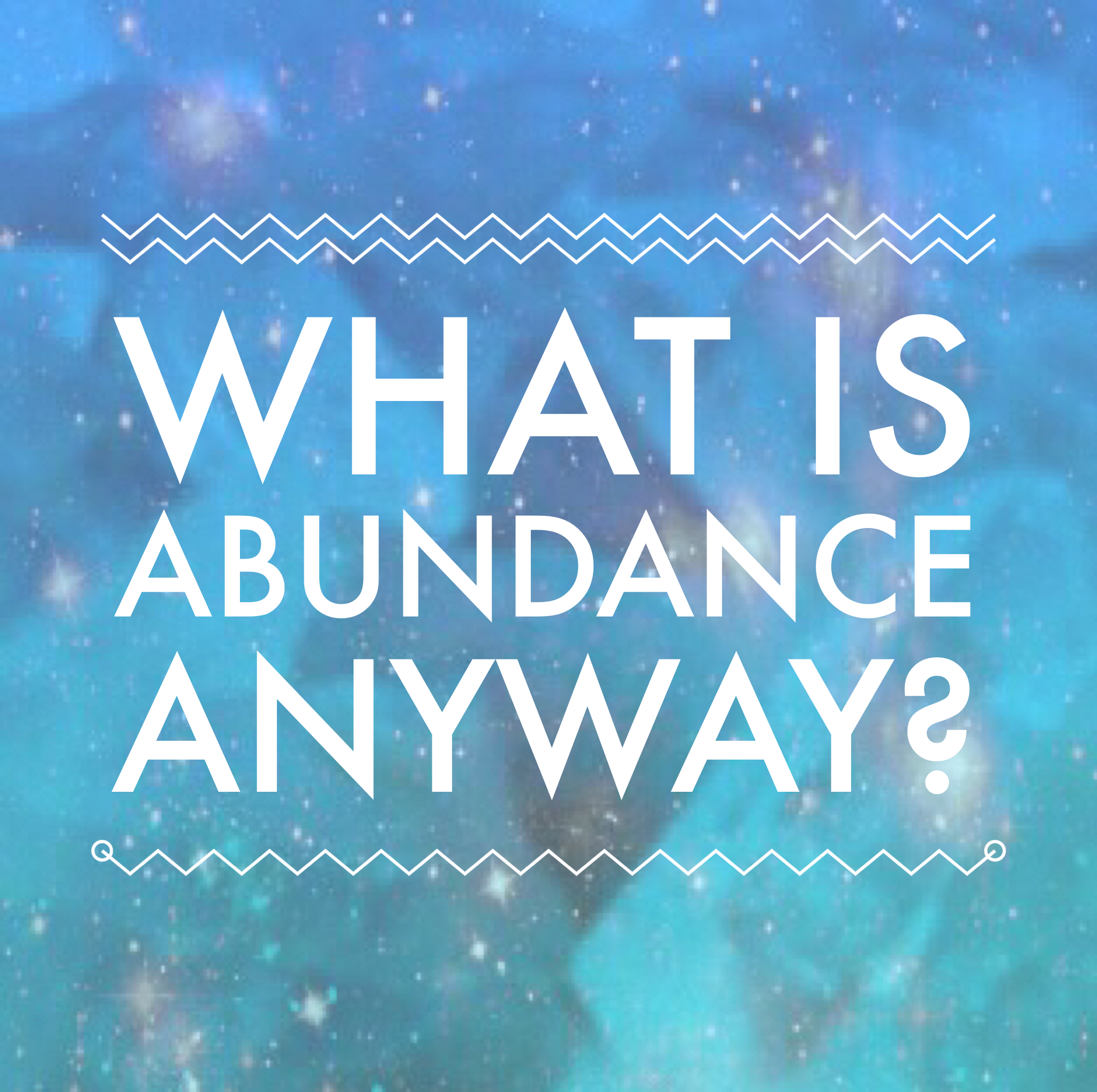 What is abundance anyway?